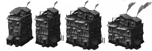 Concept Art - Slums District #1