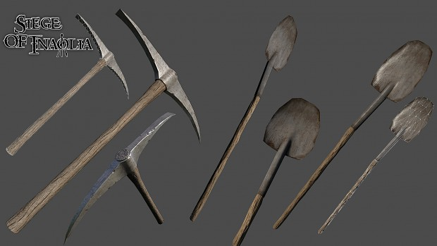 Renders/Screenshots - Shovel and Pickaxe