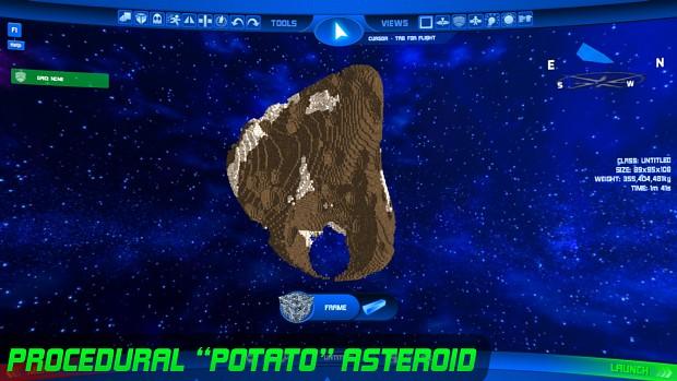 Potato Asteroid w/ Craters & Ore - Noisy!