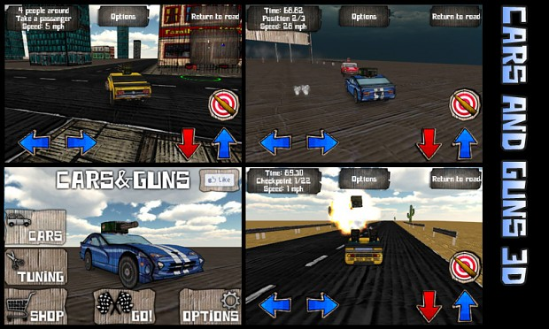 Cars And Guns 3D (Paper Cars) Windows, Mac, Mobile, iOS