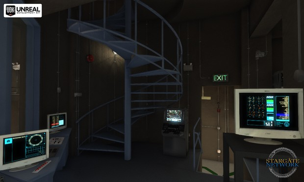 Control Room Spiral stairs