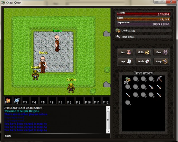 Chaos Quest gameplay and Leather legs