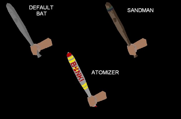 Extra TF2 Weapons In Old TF  3 Scouts Bats Image