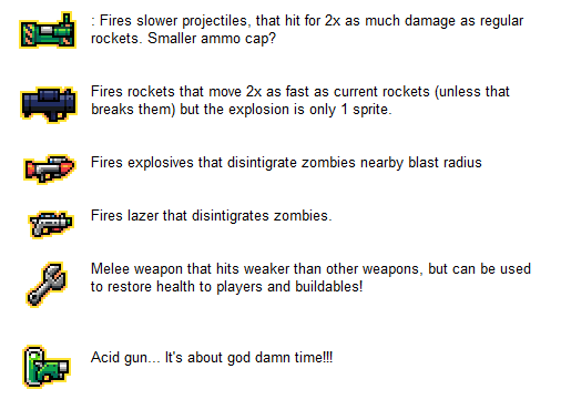 Upcoming weapons...