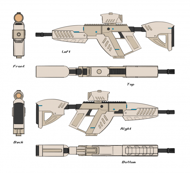 XR15 Assault Rifle Full Concept Sheet