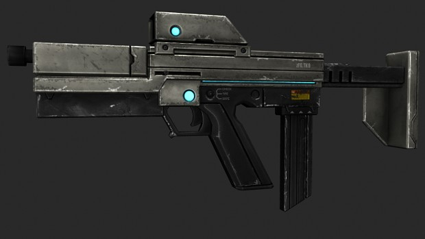 TK9 SMG Final Third Person Model+Texture!