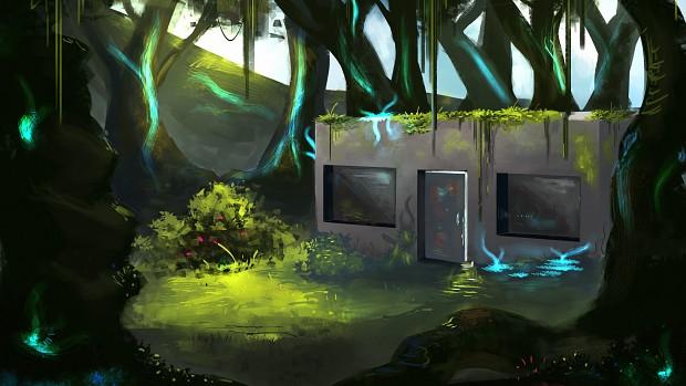 Cryo Station Outside Art