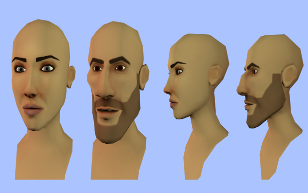 Base character faces