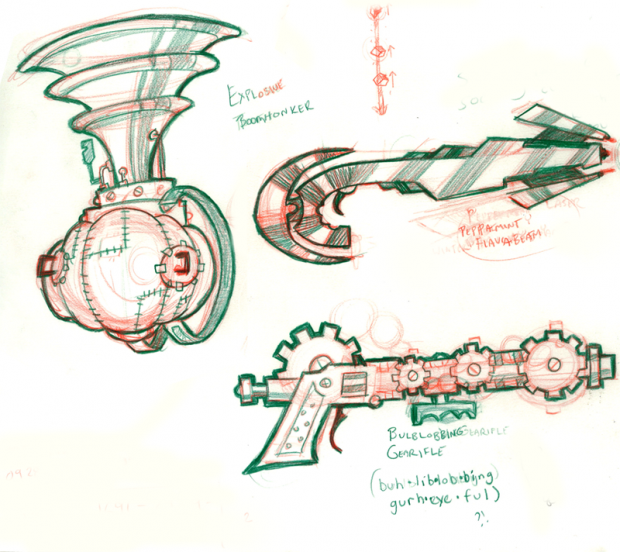 Christmas Arsenal Sketches