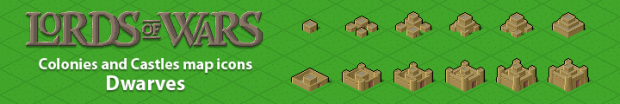 Isometric icons for the world map