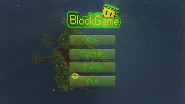 Block Game's main menu
