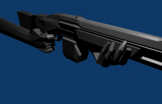 The final model for the shotgun (Not textured)