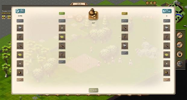 New trade screen