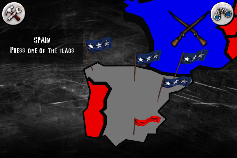Campaign Map in Angry World War 2