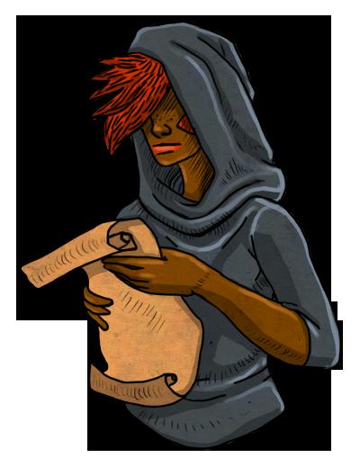 Main character reading