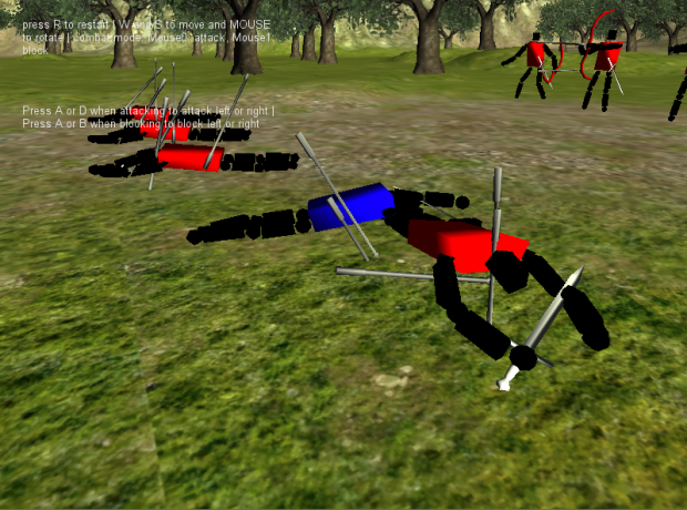 early screens of the battle system