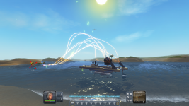 Boats firing in Planet Explorers a0.8