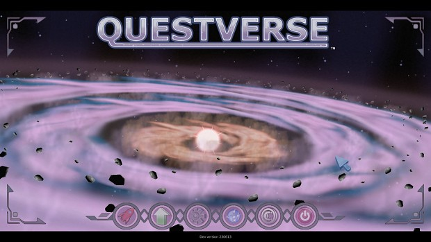 Questverse current main menu