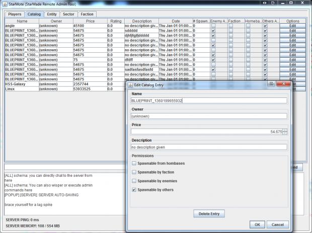 StarMade - 'StarMote' Admin Tool