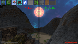 Comparison of cubic and smooth rendering