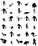 silhouettes of creatures from Gnoblins
