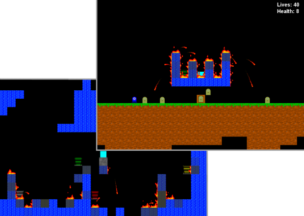 Displaying Fires and Teleporters