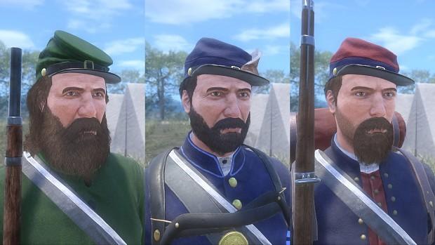 Soldier faces