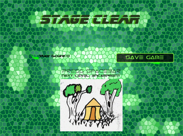 Stage Clear Screen