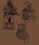 Initial concept arts