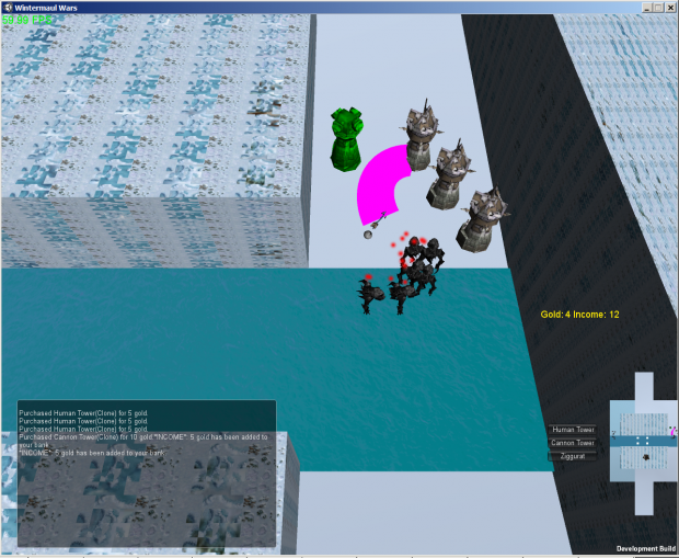 Screenshot with placeholder models
