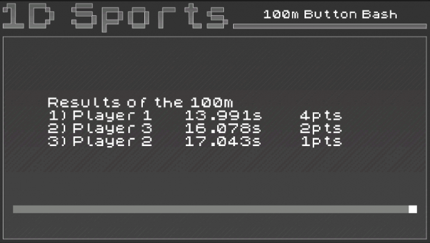typical results screen