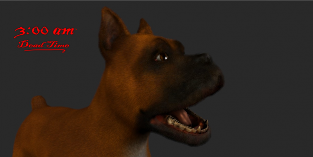 Boxer dog, in-game, WIP