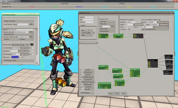 Asset editor: Player animation