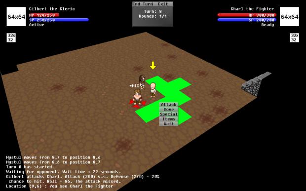 Dungeon Tactics 2.0 PvP WIP