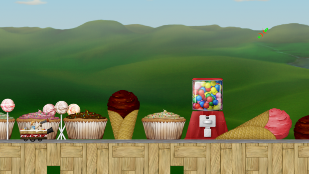 Screenshot of the pastry and candy theme