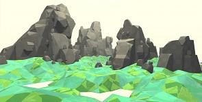 Jumble of boulders. Draft one