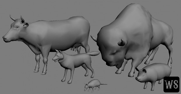 Animals Low Poly II