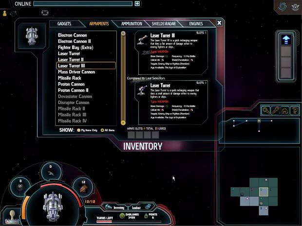 Ship Inventory Window