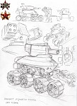 Soviet Moontank concept art