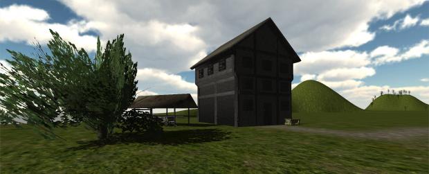 Medieval House in Basic Landscape