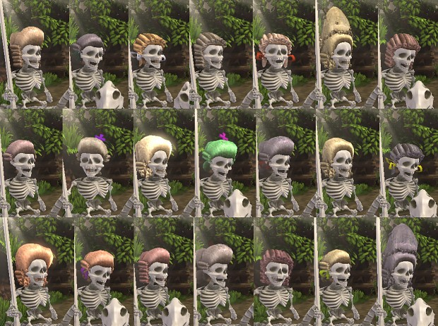 Randomly generated wigs for the Skeleton King
