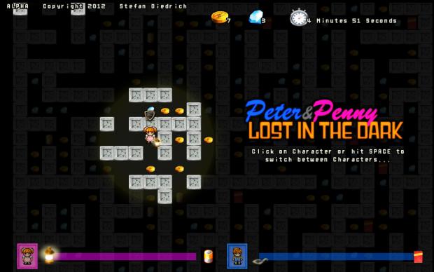 Peter & Penny LOST IN THE DARK Screens