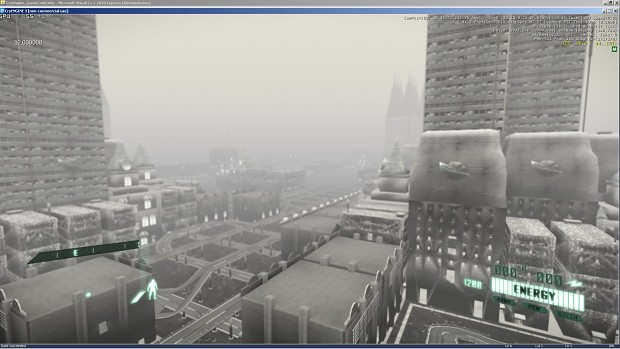 Shot of a city environment with generated roads