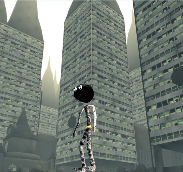 Stickman in a city environment