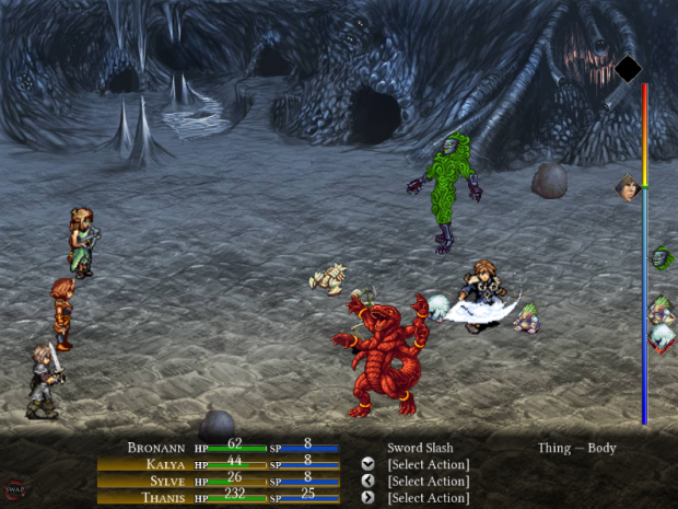 An example of in game battle.