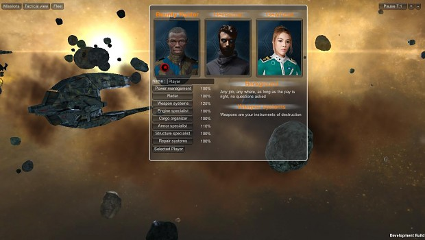 Character selection screen.