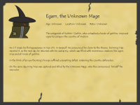 Aepedia: Egam, the Unknown Mage