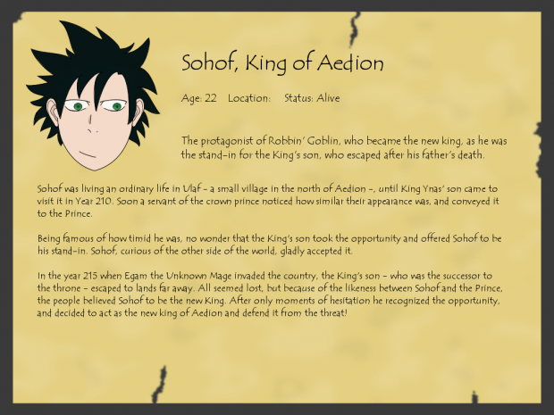 Aepedia: Sohof, King of Aedion