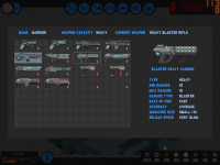 Weapon selection screen WIP