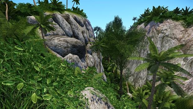 Pre-Alpha in game jungle screenshots